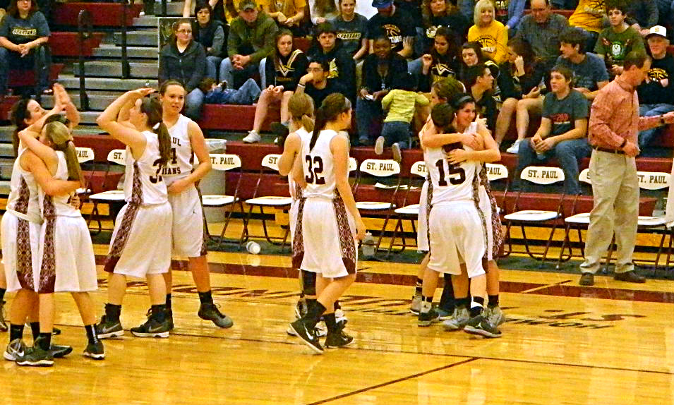 The St. Paul Lady Indians are headed back to state, beating South Haven by 28 points on Saturday night.