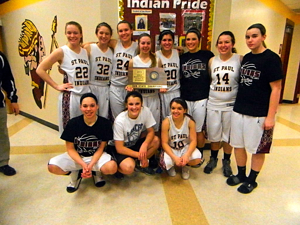 St. Paul Lady Indians, state bound in 2015.