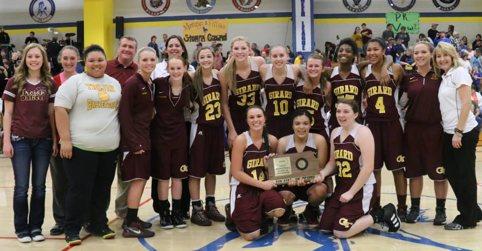 Girard Lady Trojans, state-bound in 2015. PHOTO BY AMY GRAY